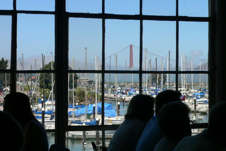 View of Golden Gate Bridge from Greens Restaurant