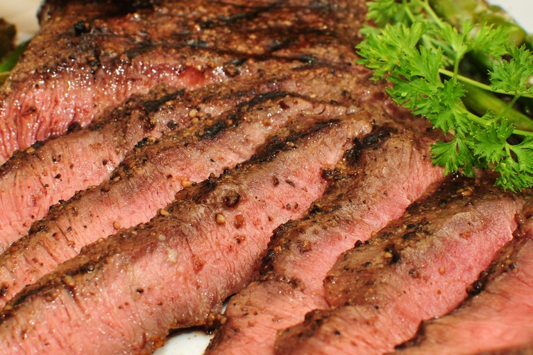 Griddled flat iron steak