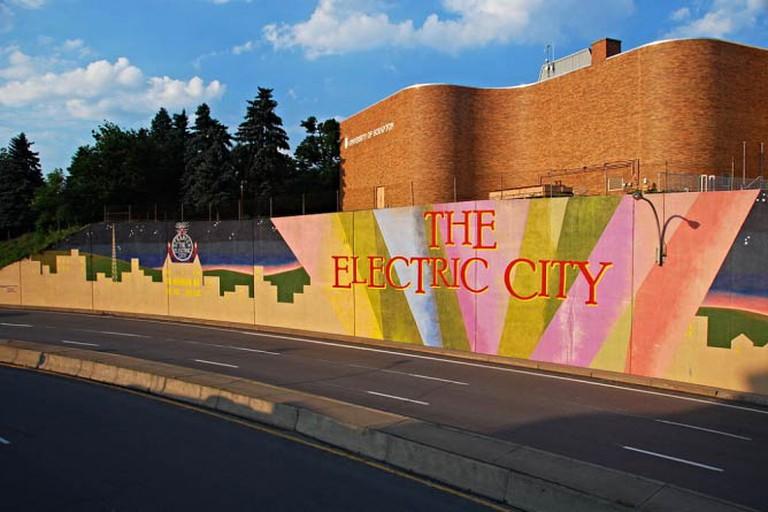 Electric City Mural, downtown Scranton, PA