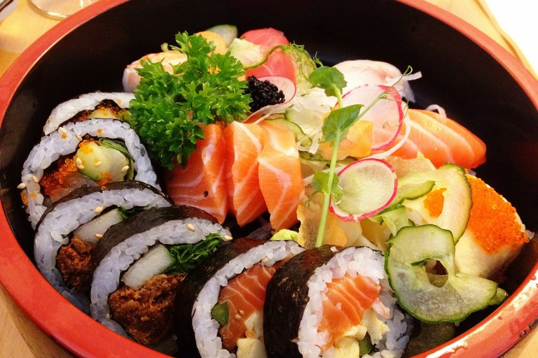 Eat sushi galore at Isao