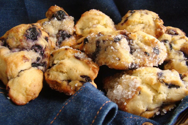 Delectable blueberry scones