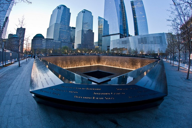Inside the September 11th Memorial in New York City