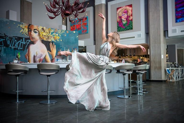 Dancer Lia Cirio In Liquid Art House