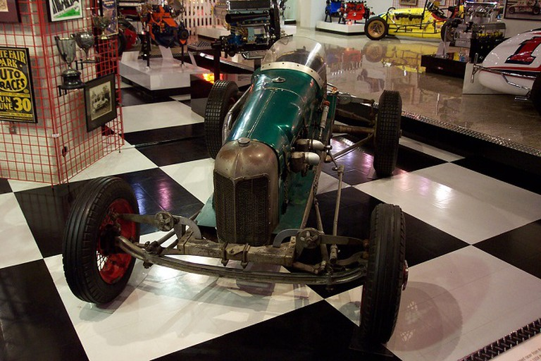 A Display at the Museum of American Speed