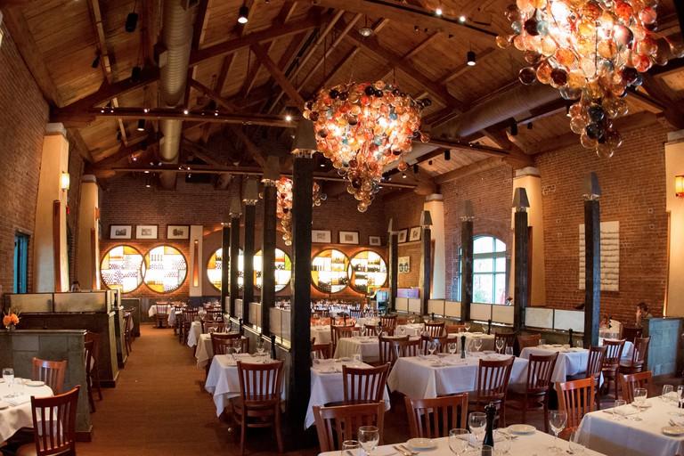 Inside Lidia's Restaurant, Kansas City