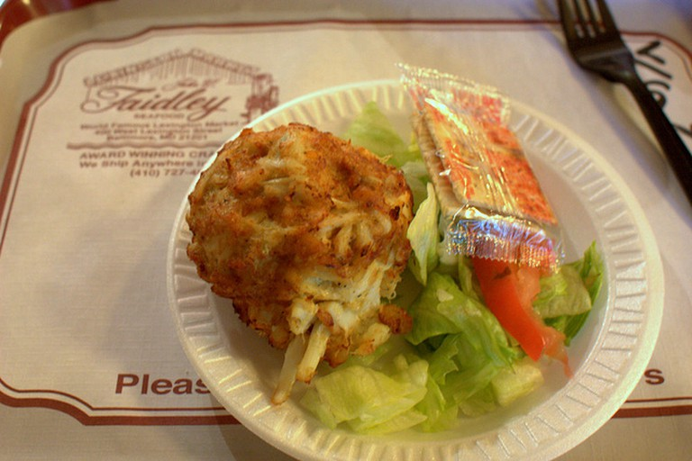 Crabcake at Faidley Seafood