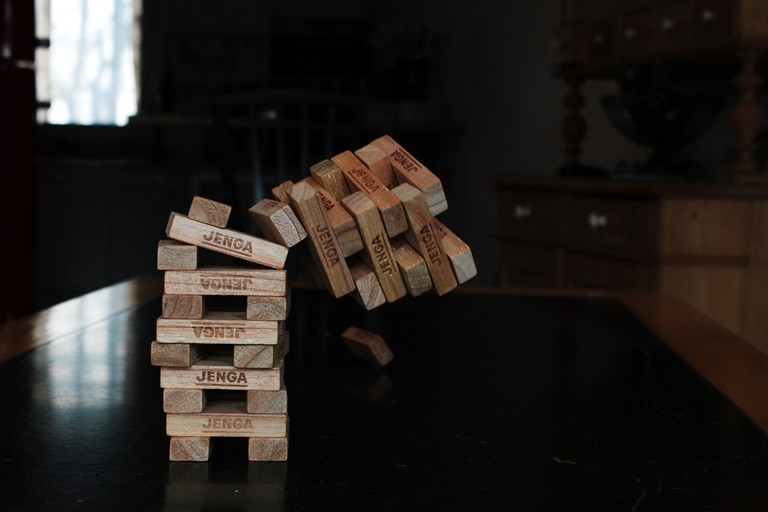 Enjoy A Game of Jenga at Timeline