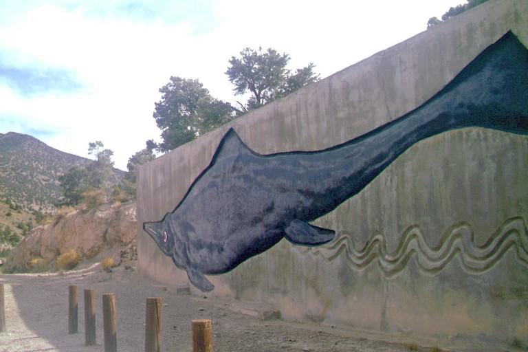 Painting of an Ichthyosaur at Berlin-Ichthyosaur State Park