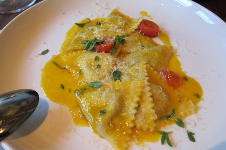 Delicious handmade ravioli