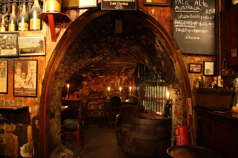The iconic location of the oldest wine bar in London