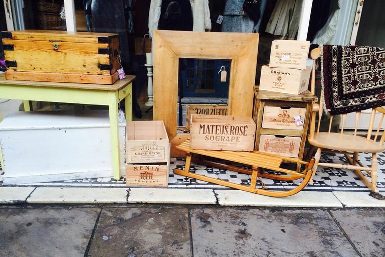 Outside shop display at Joli Vintage Living