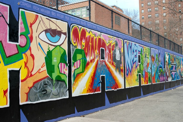 The Graffiti Hall of Fame is a canvas for professional artists from across the world