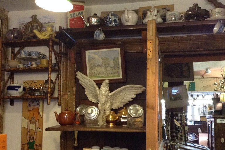 The tea shop at The Junk Shop and Spread Eagle