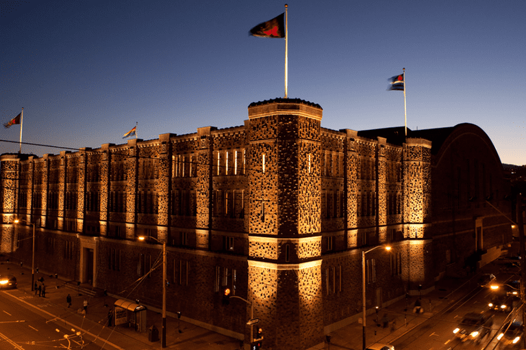 The Armory commands almost an entire city block