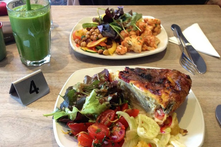 The Metropolitan Cafe lines up super smoothies alongside quiche, salads and panini