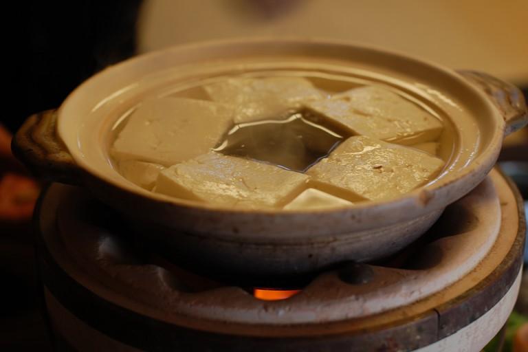 A pot of Yudofu at Okutan Nanzenji