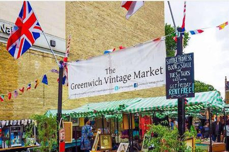 The entrance to Greenwich Vintage Market