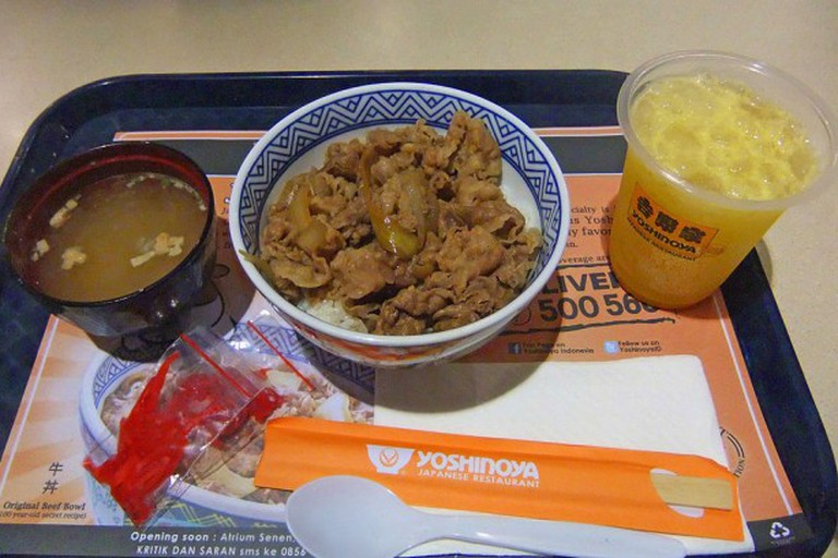A quick meal at Yoshinoya