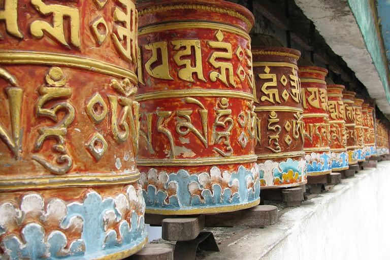 Prayer Wheels at Rumtek Monastery