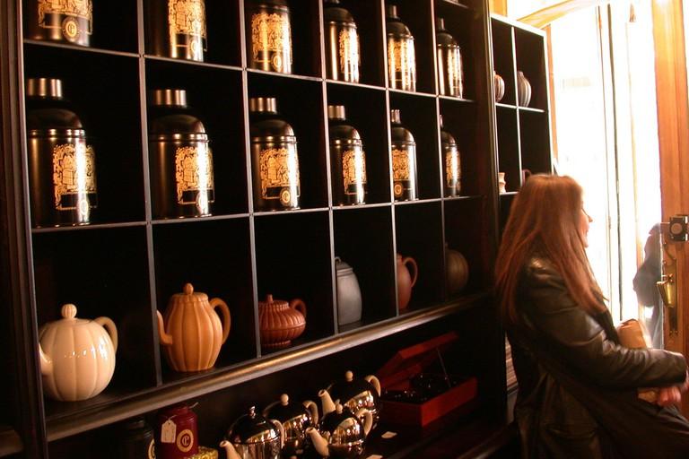 Teapots at Comptoir Florian - la Maison du Thé