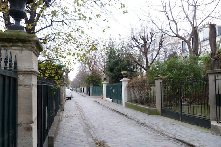 Cité des Fleurs in the winter/