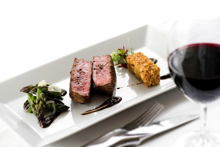 Hart House's AAA beef with crispy truffle potato