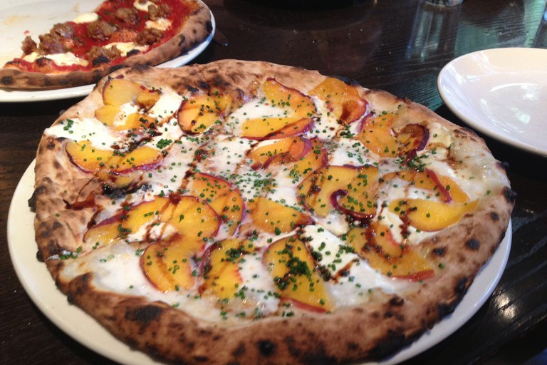 Peach Pizza at Vesta