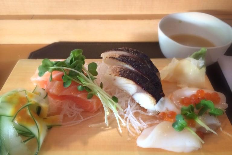 Sashimi at Joshu-Ya Brasserie