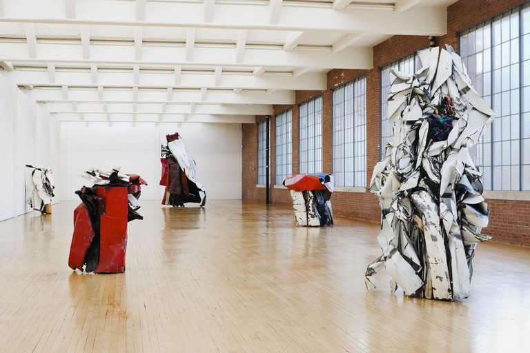 John Chamberlain, Installation View, Dia:Beacon, Riggio Galleries.