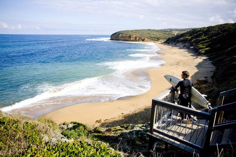 Surfer, Bells Beach, VIC | Courtesy of Tourism Victoria ©Mark Chew