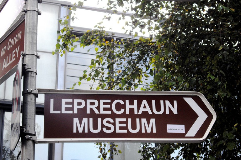 A sign for the National Leprechaun Museum