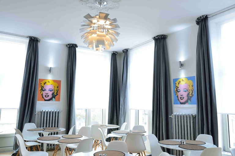 At Hotel Retro, Marilyn will watch over you during breakfast