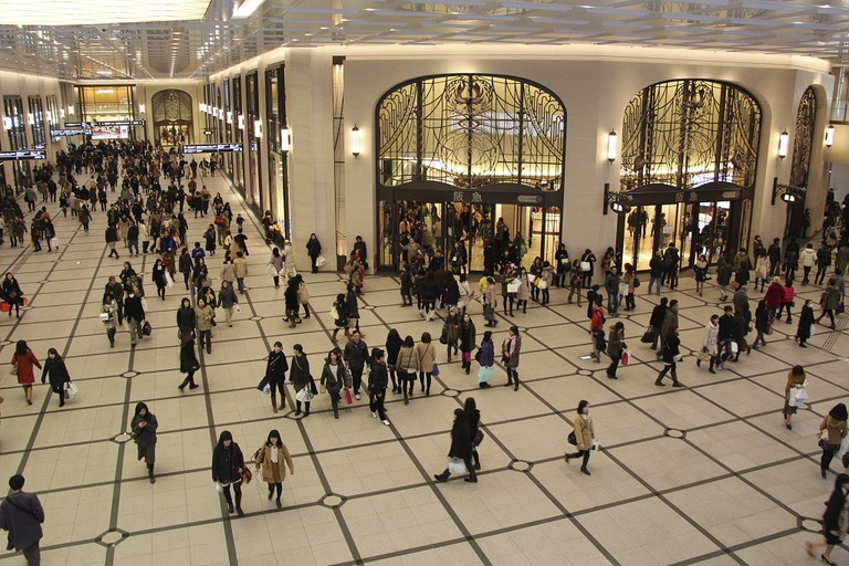 The Hankyu Department Store concourse in Osaka