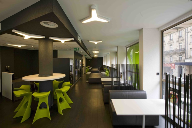 Sleek, modern and with a splash of green to brighten things up