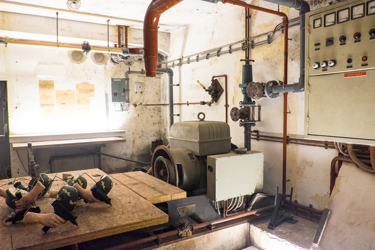 During WWII the Dutch government built a system of atomic bunkers throughout the Netherlands
