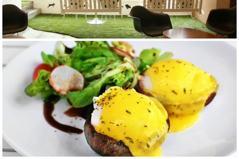The Lawn / Portobello Eggs Benedict