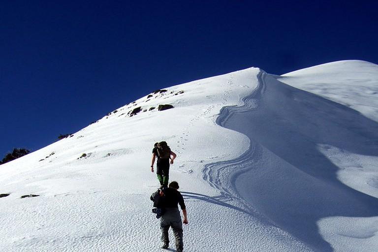 Ascending Mt Feathertop Stevage