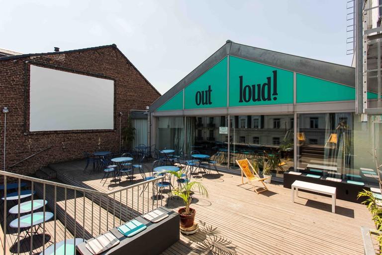 The Beursschouwburg's rooftop terrace