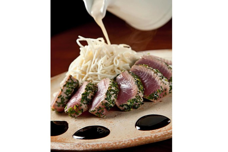 Raw tuna at Zuka