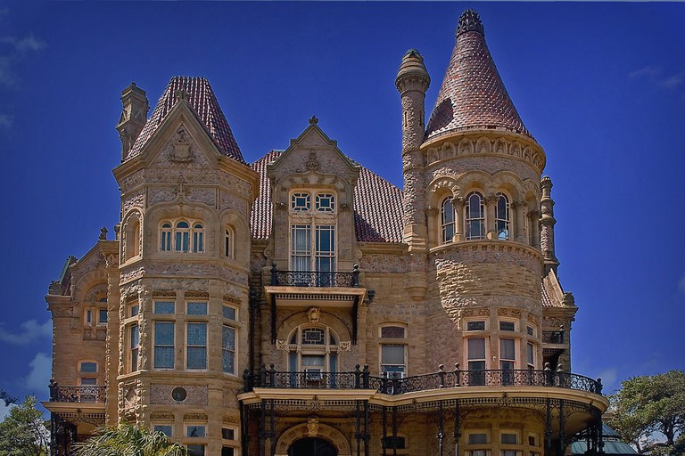 The Bishop's Palace is a Victorian-style castle in Galveston