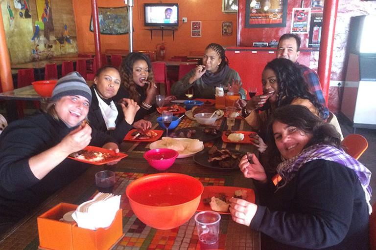 Patrons at aMadoda Braai and Restaurant, Cape Town