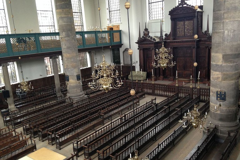 Inside the Portuguese Synagogue