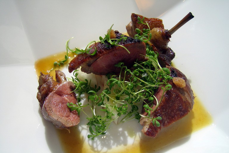 Smoked Squab a l'Orange, Asian Pear, Candied Tamarind