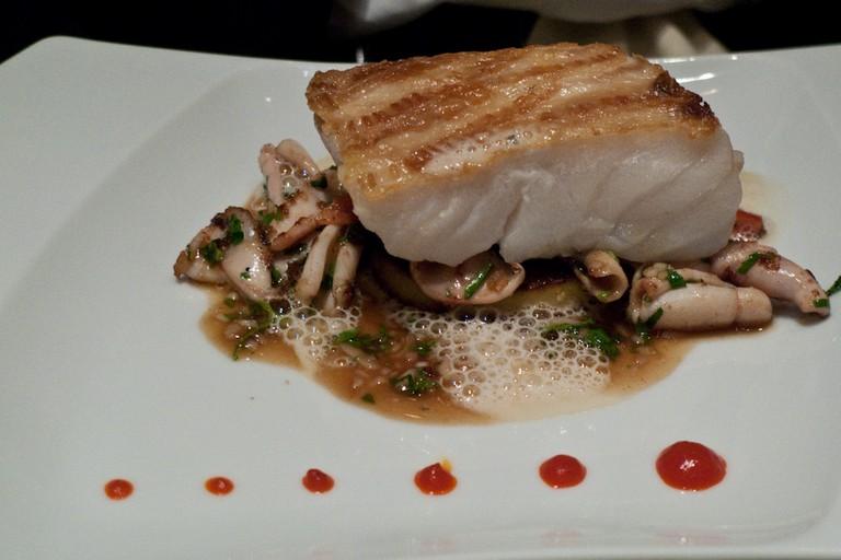 A fish dish at Les Fables de la Fontaine