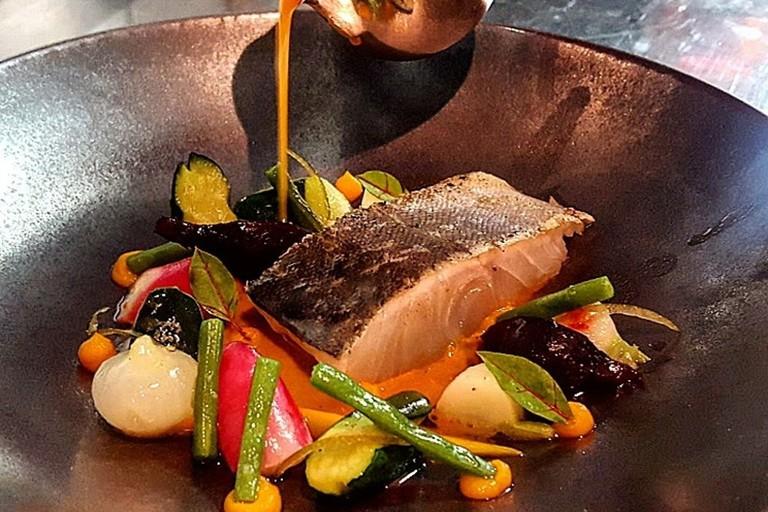 Fish dish at La Truffière