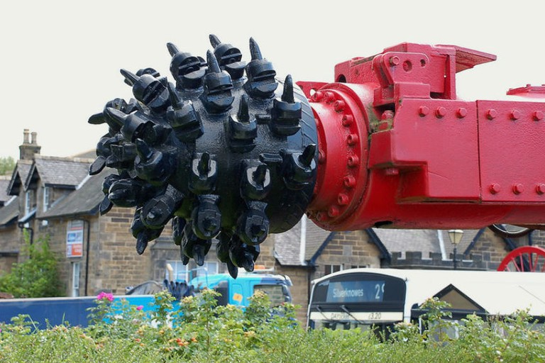Coal Cutting Head At Scottish Mining Museum