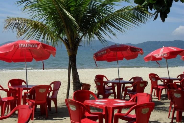 Kiosque do Paulinho's beachside location