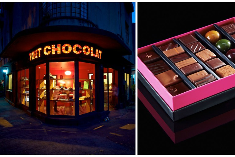 The iconic storefront and some perfectly packaged products