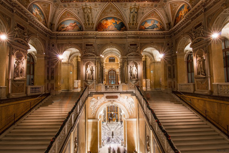 Inside the foyer of the Natural History Museum, Vienna