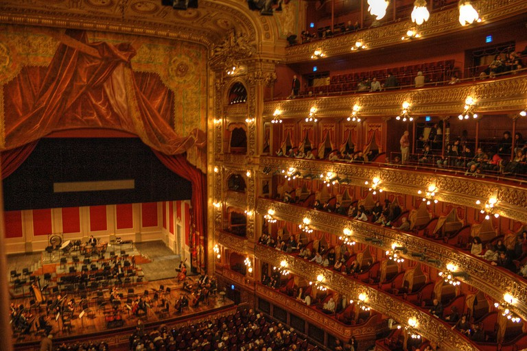 Concert hall and stage, Teatro Colón, Buenos Aires